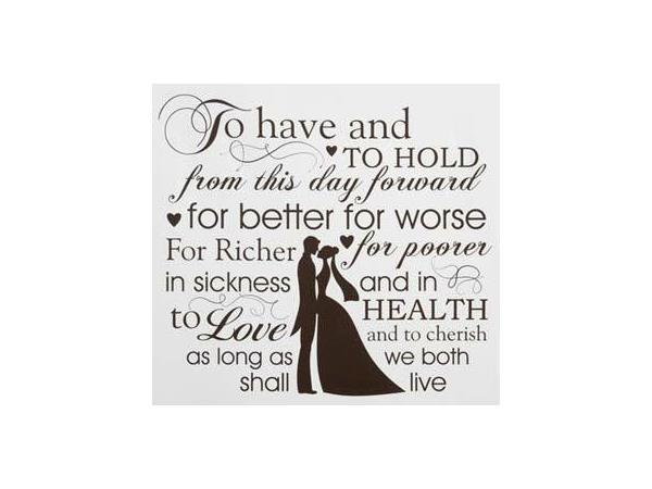 Part marriage do us vows till death 15 Promises