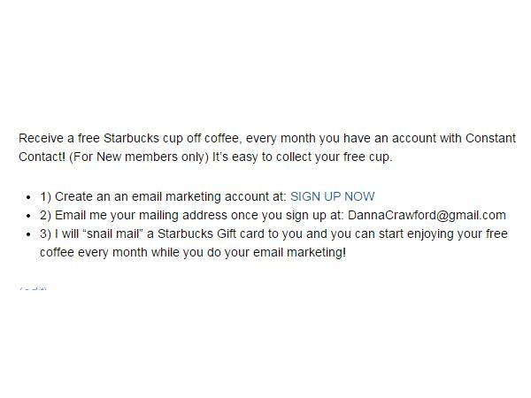 Starbucks and Email Marketing 05/03 by Danna Crawford