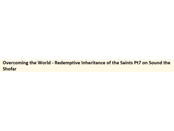 Overcoming the World - Redemptive Inheritance of the Saints Pt7 on Warn Radio