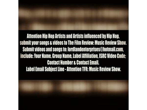 ATTN ARTISTS: HERE'S HOW TO SUBMIT SONGS & VIDEOS TO TFR