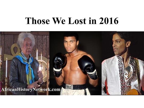 Remembering Those We Lost In 2016 - Dr. Welsing, Muhammad Ali, Prince