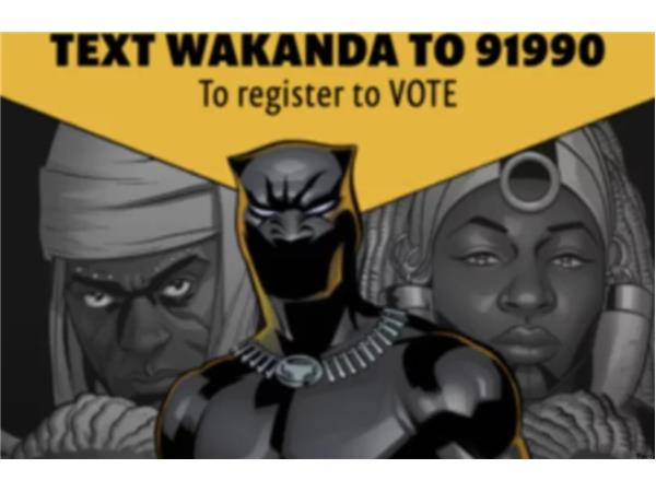 """Black Panther"" breaks $1 Billion; #WakandaTheVote Registers people to vote"