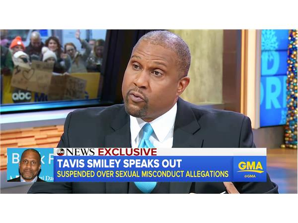 Tavis Smiley's Good Morning America interview; Denies Sexual Misconduct 12-18-17