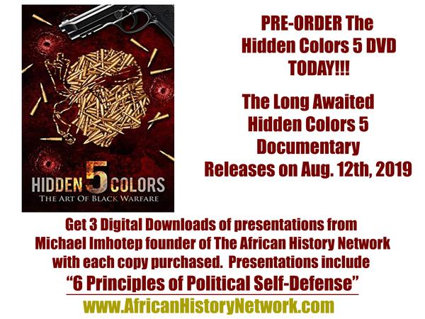 Pre-Order Hidden Colors 5: The Art of Black Warfare, Get 3 FREE Downloads NOW