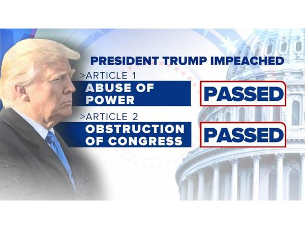 Trump Impeached on 2 Articles; Pelosi says House will wait to send to Senate