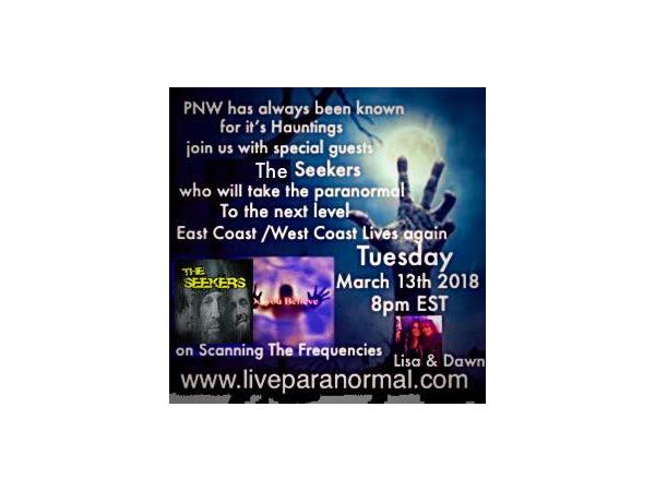 Scanning the Frequencies Radio Show on LiveParanormal com- Guests