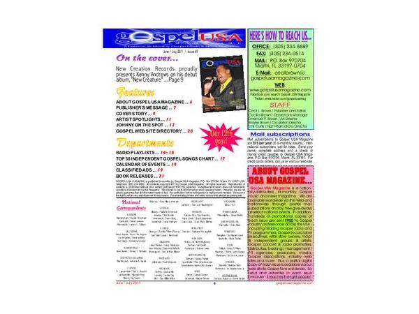 Gospel USA Magazine www gospelusamagazine com/ @ Howcee Productions