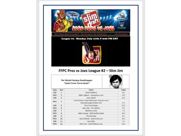 2020 FFPC Pros Vs. Joes Slim Jim League #2
