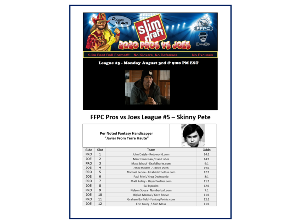 2020 FFPC Pros Vs. Joes Skinny Pete League #5