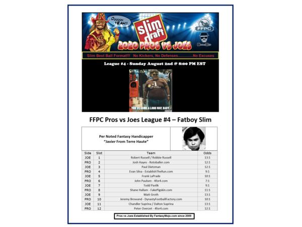 2020 FFPC Pros Vs. Joes Fatboy Slim League #4