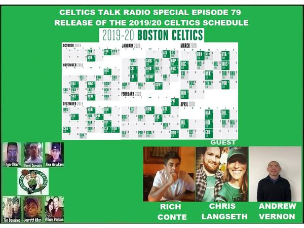 graphic relating to Celtics Printable Schedule named Celtics Communicate Radio Distinctive Episode 79 Launch of the 2019/20