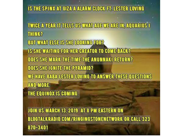 Is the SPINX at Giza a alarm clock ft  Lester Loving 03/14 by Food