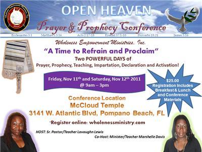 11/11/11 OPEN HEAVEN PRAYER & PROPHECY CONF A M  SESSION 11
