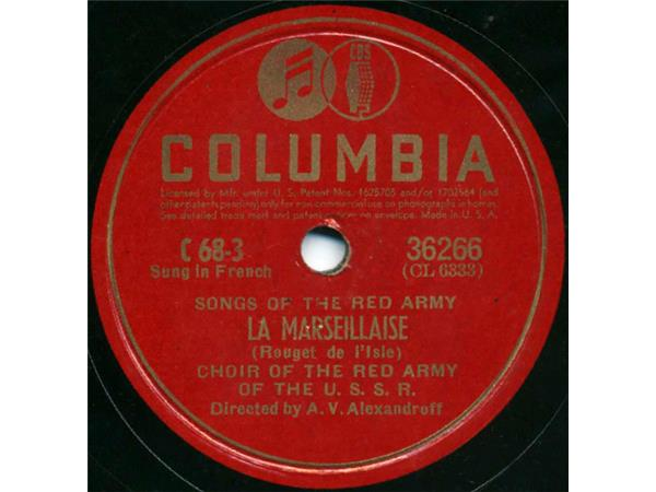 Choir Of The Red Army Of The U S S R  – Songs Of The Red