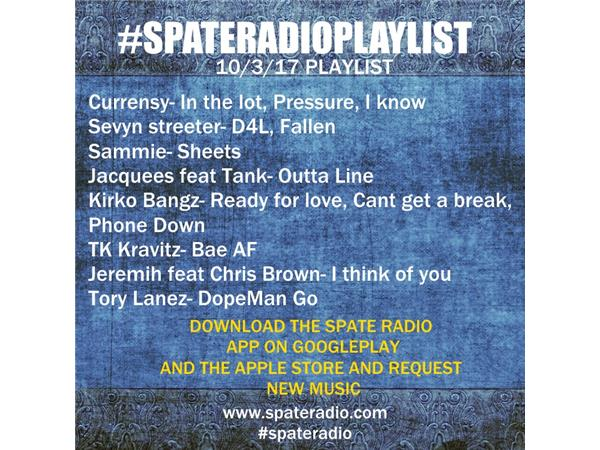 Spate Radio New Music 10/3/17 Kirko Bangz and more 10/03 by SPATE