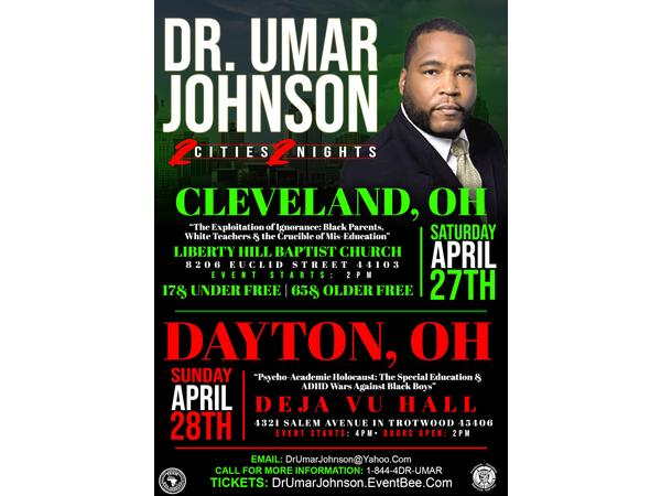TEAM DLW UNITY MOVEMENT / DR  UMAR JOHNSON COMING TO CLEVELAND