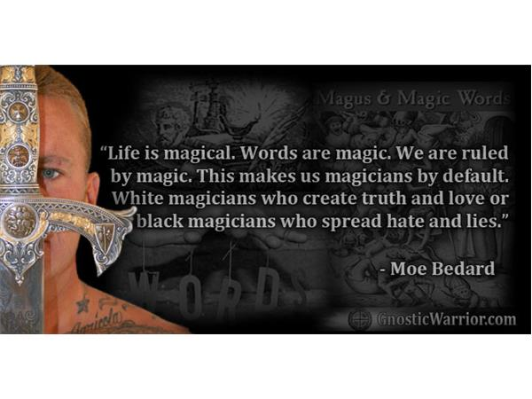 WE ARE WIZARDS AND WITCHES BY DEFAULT = THE POWER OF THE IMAGINATION