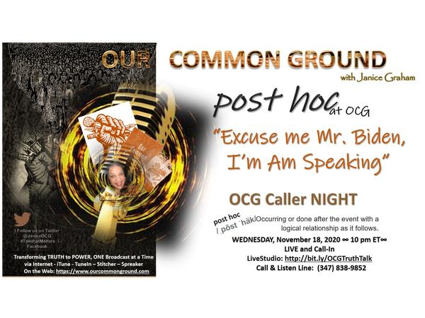 post hoc Wednesday Night OPEN MIC ::: OUR COMMON GROUND Ep. 1