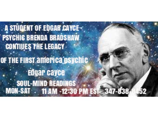 Student of Edgar Cayce READER BRENDA BRADSHAW one hour show