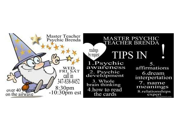 Master Psychic Teacher Brenda