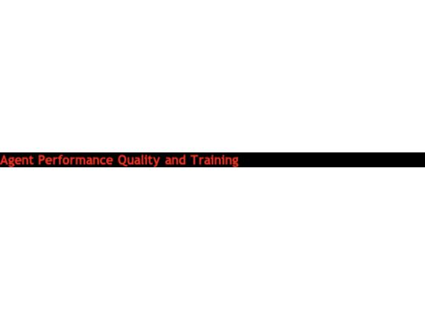 Agent Performance and Quality Training