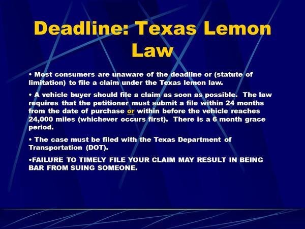 Lemon Law Texas >> Ce The Lemon Law Three Strikes Law Three Prison Act The 3