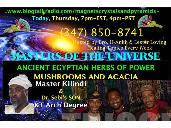 Ancient Egyptian Herbs of Power, Mushrooms and Acacia