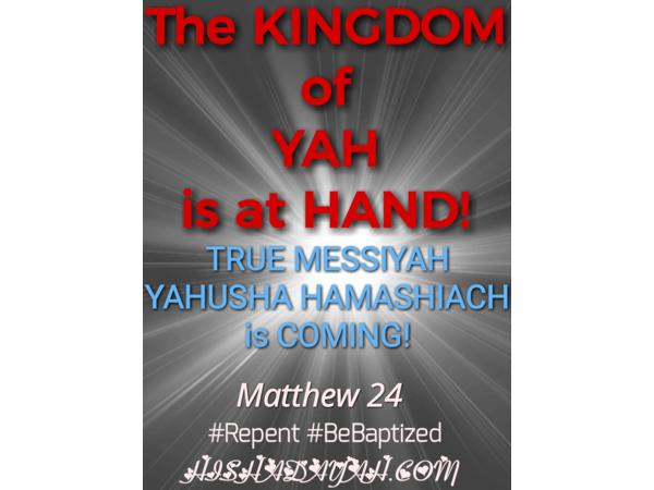 Return Yashara'el unto YAHUAH through HIS Melki Zedek High Priest
